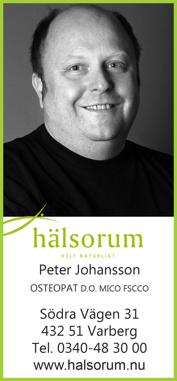 Osteopat Varberg - Peter Johansson på Hälsoorum