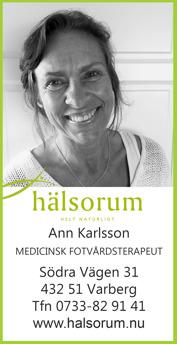 Fotvård Varberg Medicinsk fotvårdsterapeut Ann Karlsson på Häslorum i Varberg