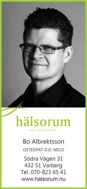 Bo Albrektsson osteopat på Hälsorum i Varberg