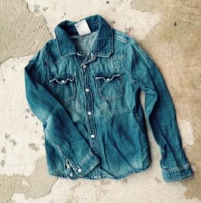 Jeansskjorta st 116