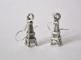 Eiffeltornet ÖRHÄNGEN PARIS Frankrike örkrok i silver -
