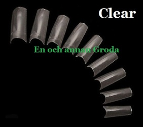100-500-pack TiPPAR clear vita naturell PROFFS Kvalitet NAGEL - clear 100st