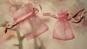 5st Rosa presentpåsar i organzatyg 7x5cm