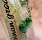 1par ÖRHÄNGEN (glas) Hjärtan Gröna