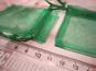 10st Gröna presentpåsar i organzatyg 7,5x4,5cm