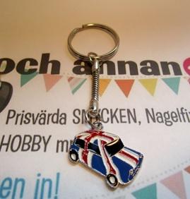 RETRO 1st Nyckelring BIL Hundkoja (Engelska flaggan) -