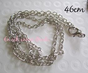 Välj färg! Halsband/Kedja - 1st Kedja dullsilver 46cm