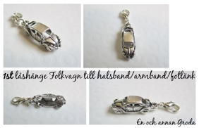 1st/2st/5st Silverfärgad Bil/Folkvagn låsHänge RETRO BUBBLA - 1st