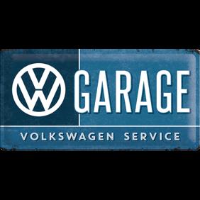 Stor GARAGE  SERVICE VOLKSWAGEN METALLSKYLT 25x50cm - skylt