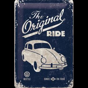 The Original RIDE METALLSKYLT 20x30cm BUBBLA typ 1 VW VOLKSWAGEN -