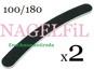 SVART NAGELFiL FiL till NAGEL / TiPPAR BANANFiL - 2st