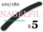 SVART NAGELFiL FiL till NAGEL / TiPPAR BANANFiL - 5st