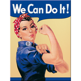 MAGNET (metall) We can do it! Feminist - 1st magnet