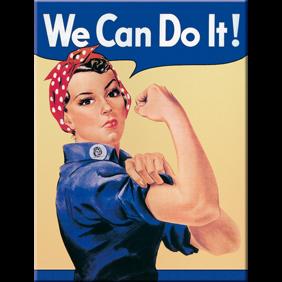 MAGNET (metall) We can do it! Feminist - 1st magnet