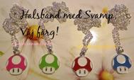 Välj färg! RETRO 1st TV-SPELS SVAMP Halsband