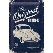 The Original RIDE METALLSKYLT 20x30cm BUBBLA typ 1 VW VOLKSWAGEN