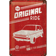 The Original RIDE METALLSKYLT 20x30cm GOLF 1 VW VOLKSWAGEN