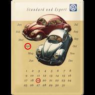 Stor (Evighets) kalender VOLKSWAGEN METALLSKYLT 29x39,5cm Bubbla typ 1
