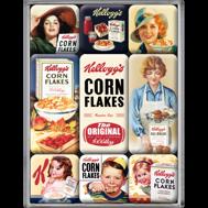 SET MAGNETER 9-pack Kelloggs CORNFLAKES Nostalgic