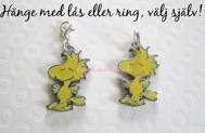 Välj lås/ring! 1st Woodstock Gul Fågel hänge till halsband/armband (Snobbens vän)