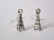 Eiffeltornet ÖRHÄNGEN PARIS Frankrike örkrok i silver