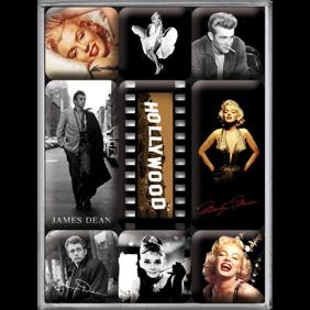 Hollywood - Magneter - Audrey Hepburn - Marilyn Monroe - James Dean -