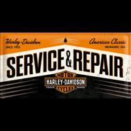 Stor Harley-Davidson SERVICE & REPAIRE METALLSKYLT 25x50cm MC