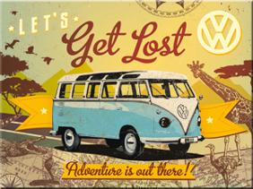 MAGNET VW LETS Get Lost Buss Folkvagn/Buss typ 2 -