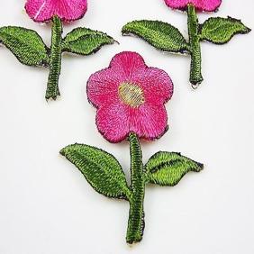 BLOMMA - 2-pack TYGMÄRKE väj färg! - 2st Rosa blommor
