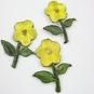 BLOMMA - 2-pack TYGMÄRKE väj färg! - 2st Gul blommor