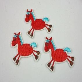 HÄST TYGMÄRKE - 1st Röd häst