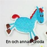 häst tygm - blå