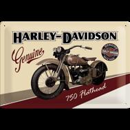 Harley-Davidson 750 Flathead motorcycle METALLSKYLT 20x30cm