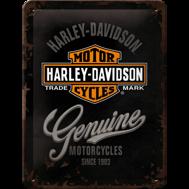Harley-Davidson MOTORCYCLES Genuine - METALLSKYLT 20x15cm MC SKALLE