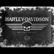 Harley-Davidson MOTORCYCLES - METALLSKYLT 20x15cm MC SKALLE