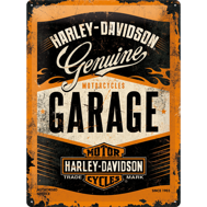 Stor Harley-Davidson GARAGE METALLSKYLT 29x39,5cm