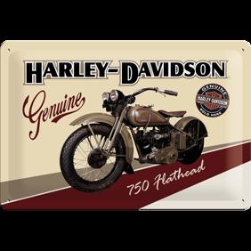 Harley-Davidson 750 Flathead motorcycle METALLSKYLT 20x30cm -