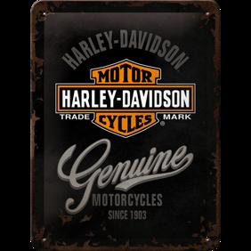 Harley-Davidson MOTORCYCLES Genuine - METALLSKYLT 20x15cm MC SKALLE -