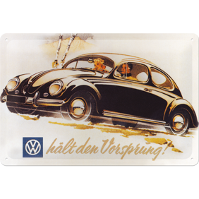 METALLSKYLT 20x30cm BUBBLA typ 1 VW VOLKSWAGEN -