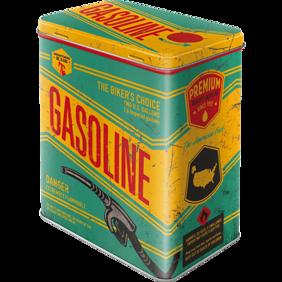 Gasoline BURK METALL 10,5x14,5x19,5cm MC BIKERS -