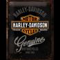 Stor Harley-Davidson Genuine METALLSKYLT 29x39,5cm
