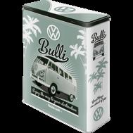 VOLKSWAGEN Bulli BURK METALL 26,5x16x8cm XL 4liter BUSS typ 2