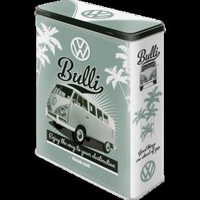 VOLKSWAGEN Bulli BURK METALL 26,5x16x8cm XL 4liter BUSS typ 2 -