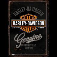 Harley-Davidson MOTORCYCLES Genuine METALLSKYLT/VYKORT 10x14,5cm