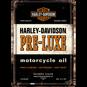 Harley-Davidson PRE LUXE motorcycle oil METALLSKYLT/VYKORT 10x14,5cm