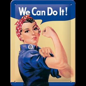 We Can Do It! - METALLSKYLT 20x15cm Feminist  -