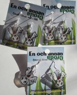 1par Flygande HÖNS ÖRHÄNGEN örkrok i silver Fågel/Höna/Tupp (clear)