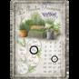 Lavendel METALLSKYLT/VYKORT/Kalender 10x14,5cm Trädgård örter