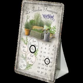 Lavendel METALLSKYLT/VYKORT/Kalender 10x14,5cm Trädgård örter -