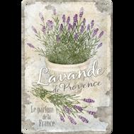 LAVENDEL BLOMMOR  Lavande de Provence METALLSKYLT 20x30cm France